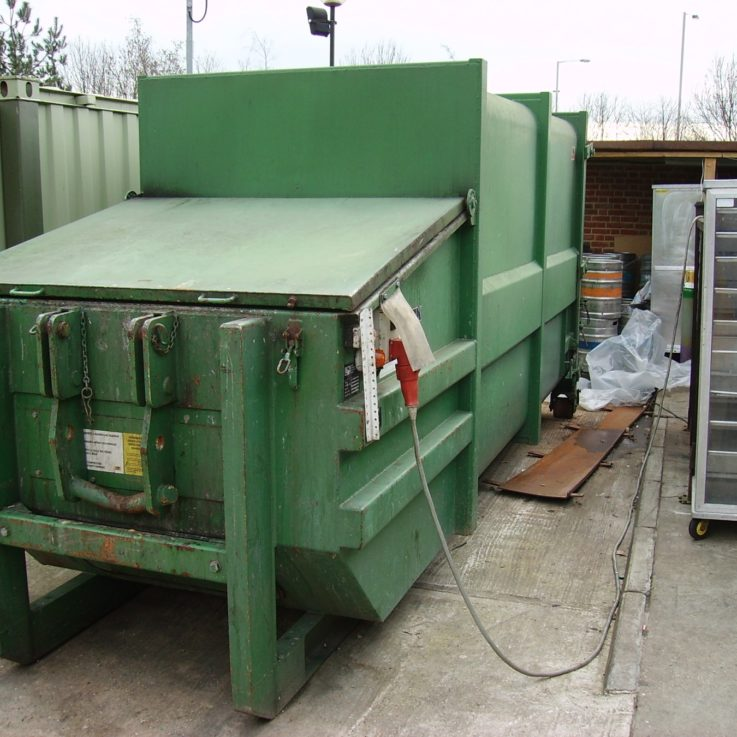 AJK20N 20m3 30yd3 Portable Compactor installed