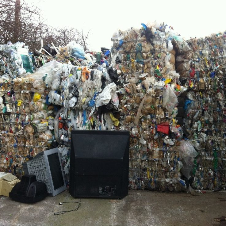 Baled Mixed Plastics - Recycling