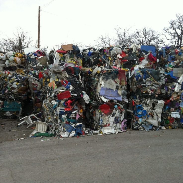 Baled Rigid Plastics - Recycling