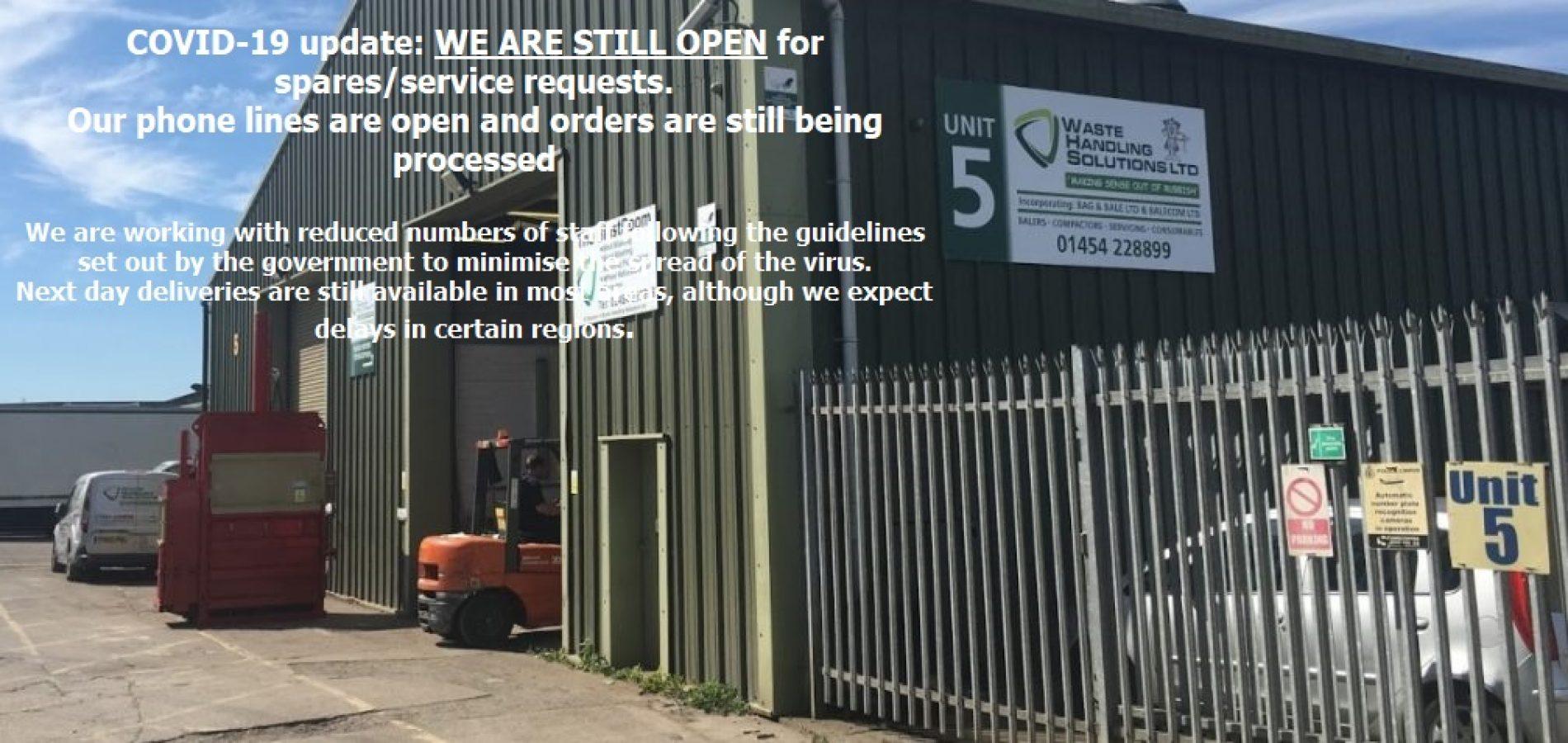 Waste Handling Solutions Ltd Building Covid 19 - Corona Virus